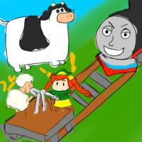 artist:guntanks_in_space char:thomas_the_tank_engine game:magical_truck_adventure sheep // 480x480 // 245.7KB