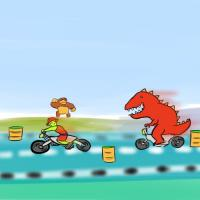 artist:furiousrockets char:big_kong char:bongo char:dinosaur_(bongo) game:kick_start_-_wheelie_king // 500x500 // 24.5KB