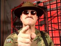 cyber_sunday hat pointing sgt._slaughter sunglasses wwe // 424x318 // 214.4KB