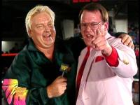 "Bobby_""The_Brain""_Heenan Raw glasses jim_cornette microphone pointing smiling suit wwf // 424x318 // 218.7KB"