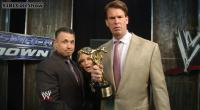 Renee_Young The_JBL_And_Cole_Show john_bradshaw_layfield michael_cole slammy_award suit wwe // 854x470 // 100.2KB