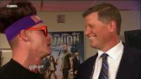 Raw headband john_cena john_laurinaitis smiling suit sunglasses wig wwe // 681x385 // 127.7KB