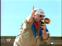 "Bobby_""The_Brain""_Heenan glasses hat megaphone pointing wwf // 421x315 // 149.2KB"