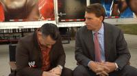 The_JBL_And_Cole_Show john_bradshaw_layfield laughing michael_cole suit wwe // 854x480 // 500.5KB