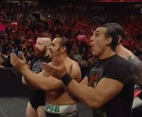 League_Of_Nations Raw Rusev alberto_del_rio autoplay_gif clapping gif sheamus smiling wade_barrett wwe // 200x164 // 1.1MB
