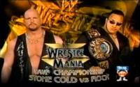 match_card raised_eyebrow stone_cold_steve_austin sunglasses the_rock wrestlemania wwf wwf_championship // 720x450 // 468.5KB