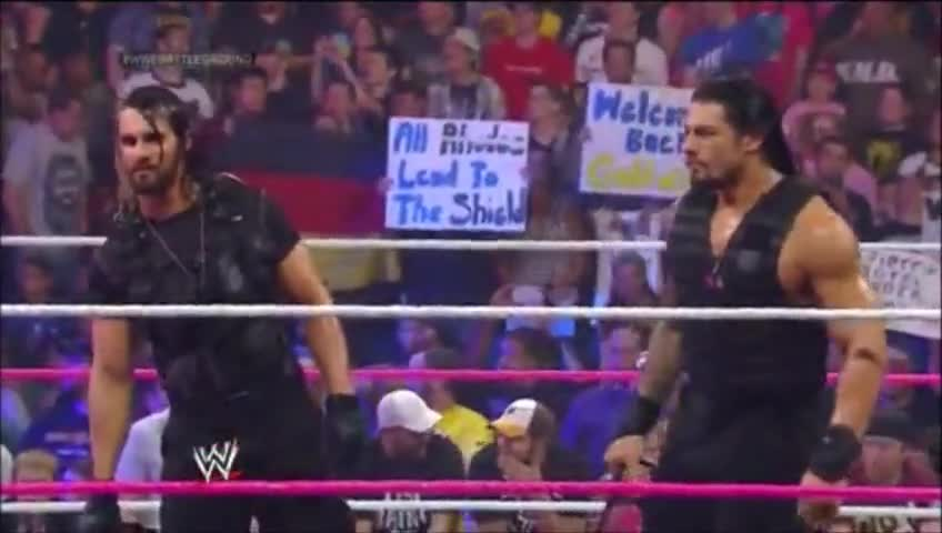 Battleground Dean_Ambrose Roman_Reigns Seth_Rollins The_Shield cody_rhodes dusty_rhodes entrance goldust sound webm wwe // 848x480 // 4.0MB