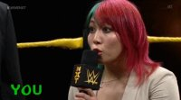 Asuka botchamania gif microphone nxt pointing wwe you_talk_too_much // 450x251 // 3.1MB