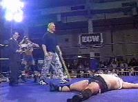 The_Blue_Meanie autoplay_gif ecw gif joey_styles kendo_stick stevie_richards the_sandman // 200x148 // 1.1MB