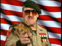 hat pointing sgt._slaughter sunglasses wrestlemania wwf wwf_championship // 406x304 // 193.6KB