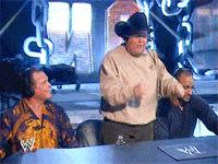 animated_macro autoplay_gif excess_text gif hat jerry_lawler jim_ross jonathan_coachman no_way_out pointing smiling wwe // 200x150 // 1.5MB
