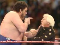 "Bobby_""The_Brain""_Heenan andre_the_giant pointing wrestlemania wwf // 421x315 // 173.1KB"