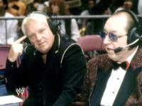 "Bobby_""The_Brain""_Heenan glasses gorilla_monsoon pointing suit wwf // 421x315 // 201.2KB"