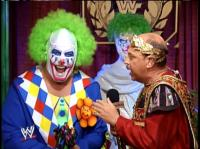 doink_the_clown laughing mean_gene_okerlund microphone smiling wrestlemania wwf // 410x306 // 226.0KB