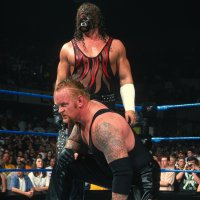 Brothers_Of_Destruction chain kane kneeling mask undertaker wwf // 1600x1600 // 1.2MB