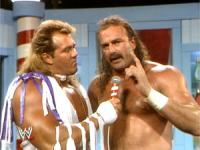 "Brutus_""The_Barber""_Beefcake Jake_""The_Snake""_Roberts barber_shop wrestling_challenge wwf // 300x225 // 57.5KB"