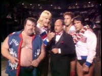 "Ricky_""The_Dragon""_Steamboat barry_windham captain_lou_albano mean_gene_okerlund microphone mike_rotundo suit wrestlemania wwf // 410x307 // 197.0KB"