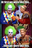at_first_i_was_like_but_then_i doink_the_clown laughing macro mean_gene_okerlund microphone wrestlemania wwf // 401x600 // 426.9KB
