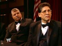WWE_Hall_Of_Fame_Induction_Ceremony don_muraco glasses suit tito_santana wwe // 421x315 // 176.5KB