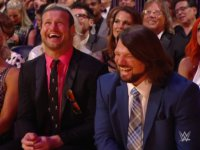 WWE_Hall_Of_Fame_Induction_Ceremony aj_styles dolph_ziggler laughing smiling suit // 424x318 // 195.6KB