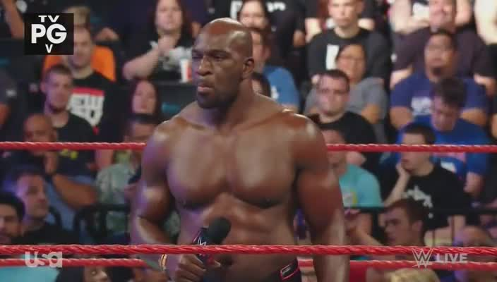 Raw microphone pointing titus_o'neil webm wwe // 704x400 // 3.1MB