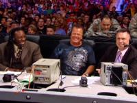 booker_t capitol_punishment jerry_lawler laughing michael_cole microphone smiling suit wwe // 424x318 // 236.9KB