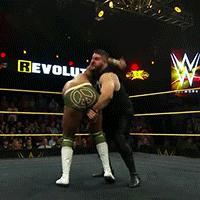 CJ_Parker Kevin_Owens NXT_Take_Over_REvolution Pumphandle_Neckbreaker animated_macro autoplay_gif blood gif kevin_steen nxt referee wwe // 200x200 // 2.7MB