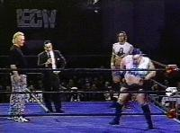 The_Blue_Meanie autoplay_gif ecw gif joey_styles kendo_stick stevie_richards the_sandman // 200x148 // 1.2MB